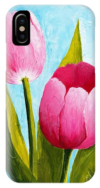 Pink Bubblegum Tulip II IPhone Case