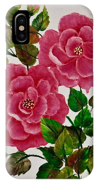 Pink Camellias IPhone Case