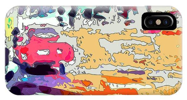 Pink Car Urban Graffiti IPhone Case