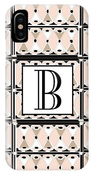 Pink Champagne Deco Monogram  B IPhone Case