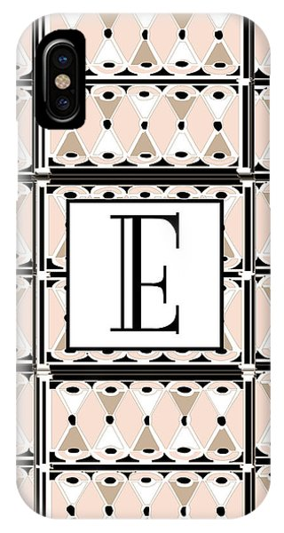 Pink Champagne Deco Monogram  E IPhone Case