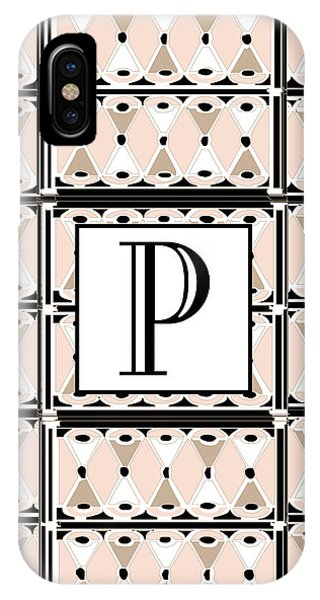 Pink Champagne Deco Monogram  P IPhone Case