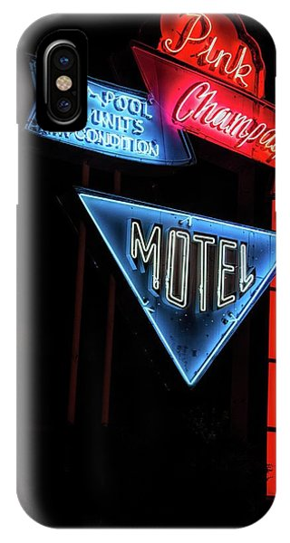 Pink Champagne Motel IPhone Case