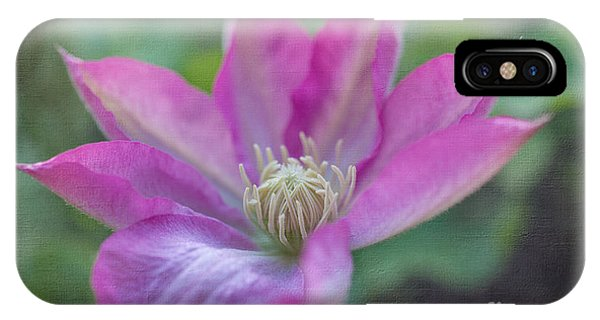 Pink Clematis #2 IPhone Case