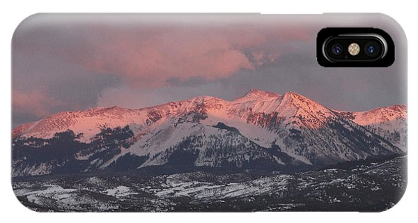 Pink Colorado Rocky Mountain Sunset IPhone Case