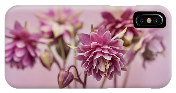 Pink Columbines IPhone Case