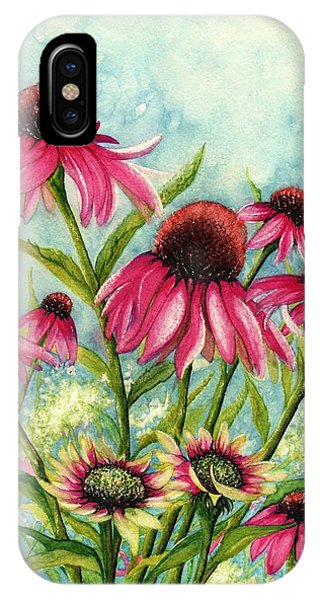 Pink Coneflowers IPhone Case