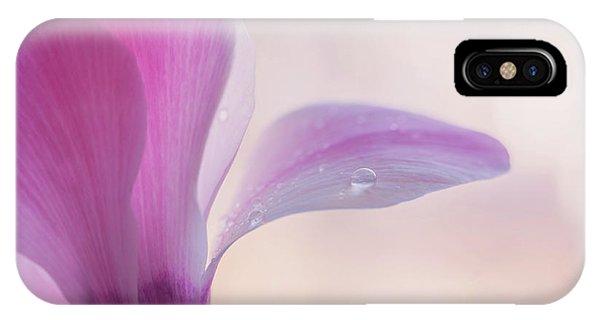 Buy Art Online iPhone Case - Pink Cyclamen Flower by Jenny Rainbow