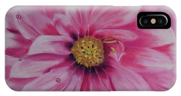 Pink Dahlia I IPhone Case