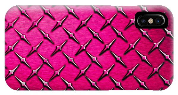 Fashion Plate iPhone Case - Pink Diamond Plate  by Mark Moore