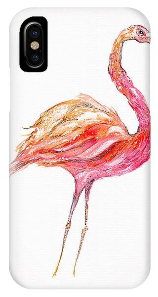 Pink Flamingo Bird IPhone Case