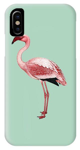 Pink Flamingo Isolated IPhone Case