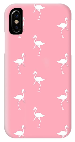 Tropical iPhone Case - Pink Flamingos Pattern by Christina Rollo