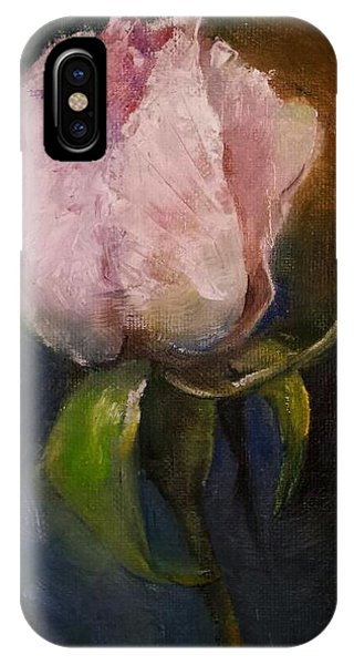 Pink Floral Bud IPhone Case
