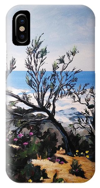 IPhone Case featuring the painting Pink Flower by Ray Khalife