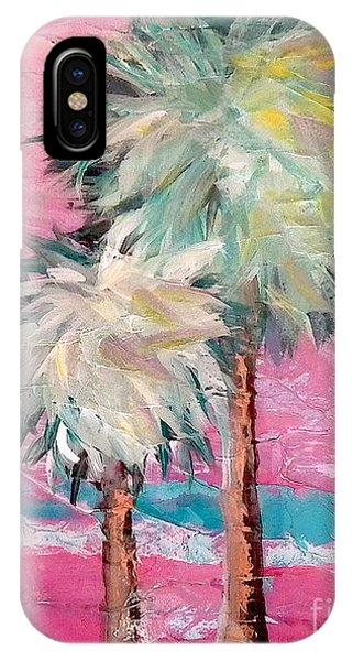 Pink Horizon Palms IPhone Case