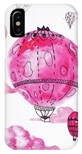 Pink Hot Air Baloons IPhone Case