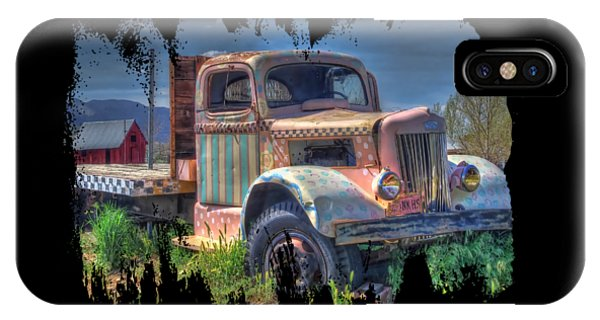 Classic Flatbed Truck In Pink IPhone Case