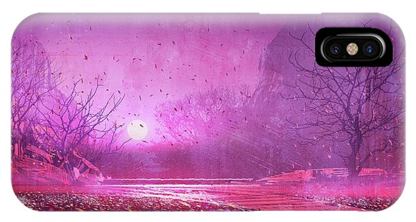 Pink Landscape IPhone Case