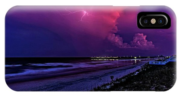 Pink Lightning IPhone Case