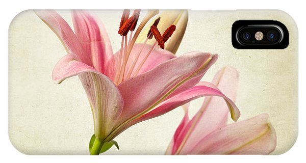 Floral iPhone Case - Pink Lilies by Nailia Schwarz