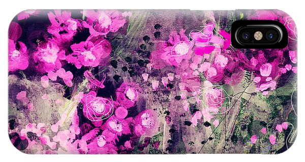 Floral iPhone Case - Pink Majestic Garden- Art By Linda Woods by Linda Woods