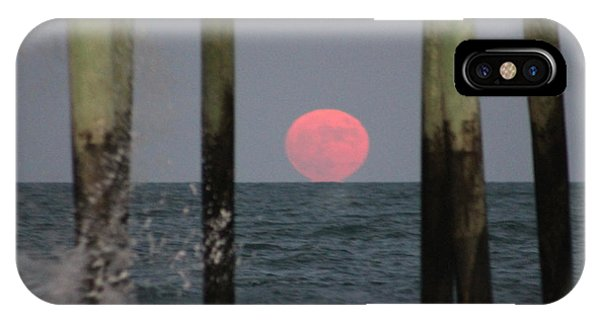 Pink Moon Rising IPhone Case