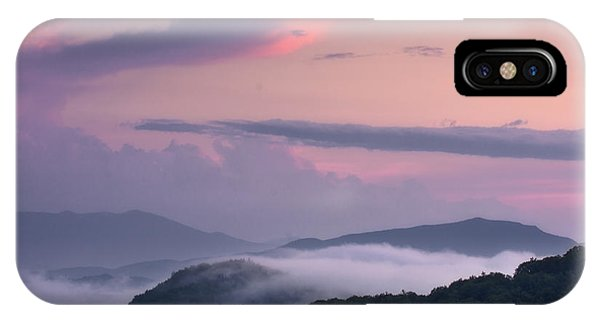 IPhone Case featuring the photograph Pink Mountain Sunset by Ken Barrett