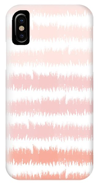 Pink iPhone Case - Pink Ombre Ikat Stripe- Art By Linda Woods by Linda Woods