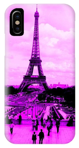 Pink Paris IPhone Case