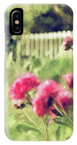 Peony iPhone Case - Pink Peonies In A Vintage Garden by Lois Bryan