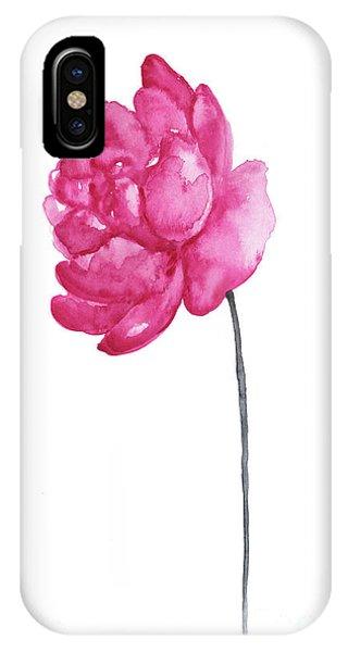 Pink Flower iPhone Case - Pink Peony, Nursery Room Print, Baby Girl Kids Room Decoration,  by Joanna Szmerdt