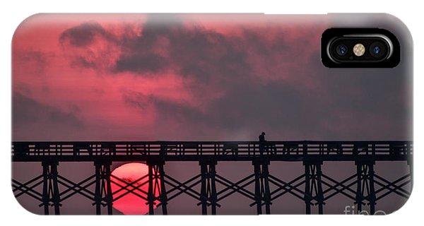 Pink Pier Sunrise IPhone Case