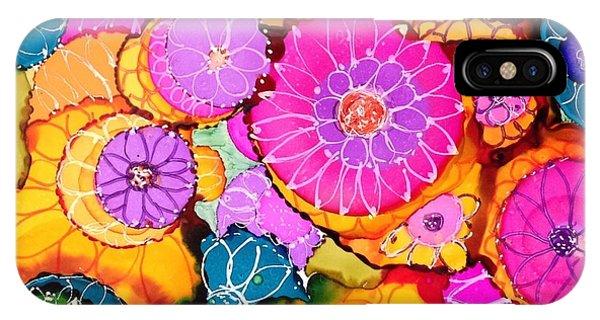 Pink Pinwheel Flowers IPhone Case