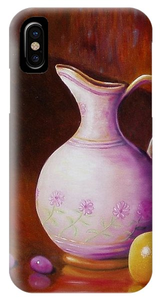 Pink Pitcher IPhone Case