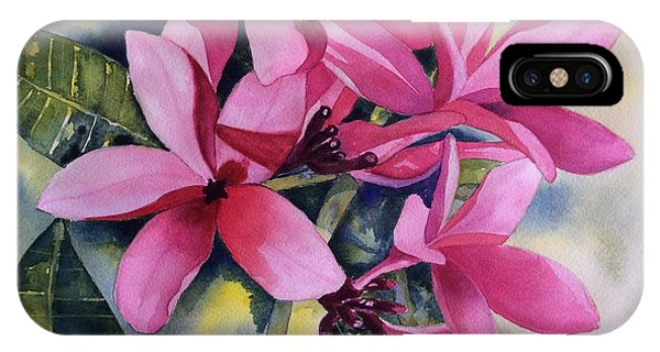 Pink Plumeria Flowers IPhone Case