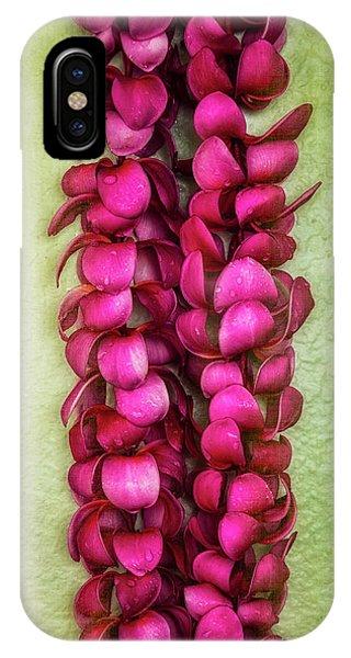 Pink Plumeria Lei IPhone Case