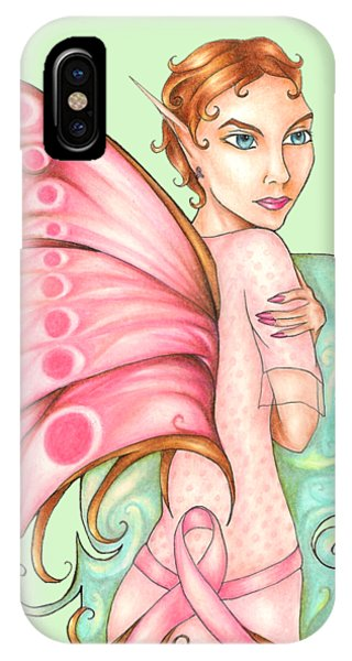 Pink Ribbon Fairy For Breast Cancer Awareness IPhone Case