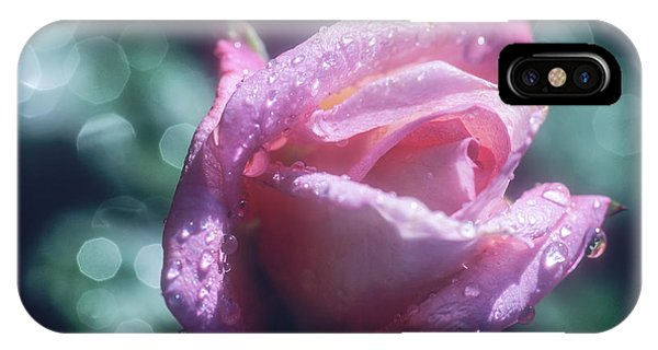 IPhone Case featuring the photograph Pink Rose After Rain by John Brink
