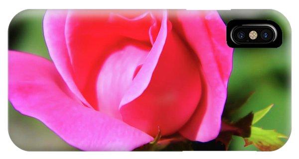 Pink Rose Bud IPhone Case