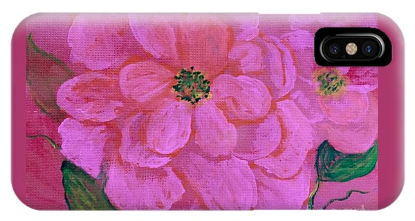 Pink Rose Flowers IPhone Case