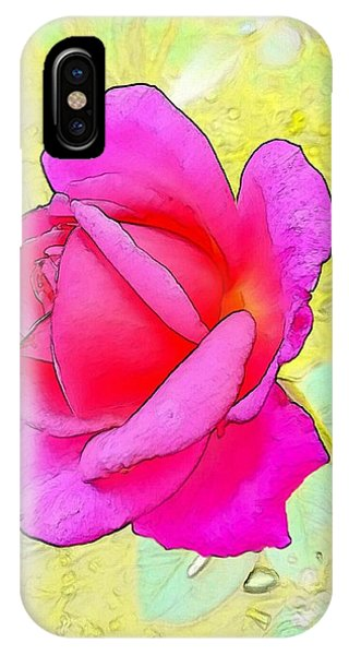 iPhone Case - Pink Rose by Kumiko Izumi