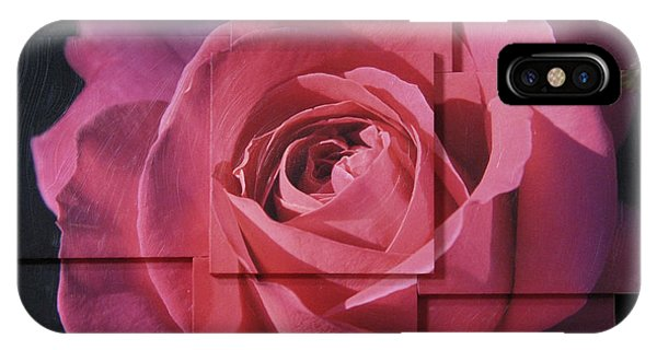 Pink Rose Photo Sculpture IPhone Case