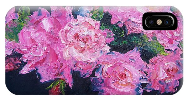 Pink Roses Oil Painting IPhone Case