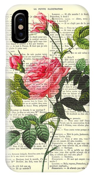 Floral iPhone Case - Pink Roses, Valentines Gift by Madame Memento