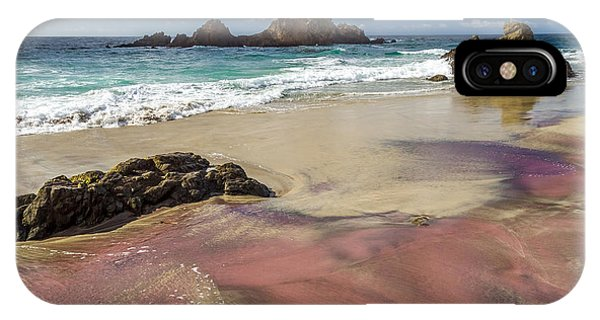 IPhone Case featuring the photograph Pink Sand Beach In Big Sur by Pierre Leclerc Photography