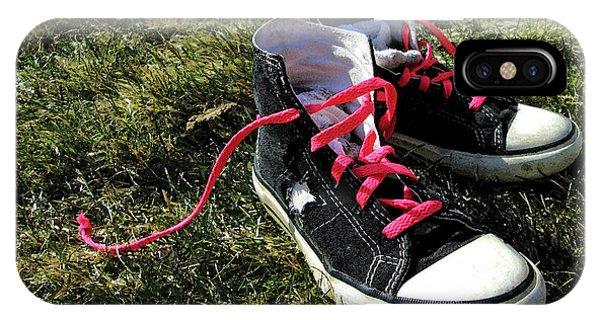 Pink Shoe Laces IPhone Case