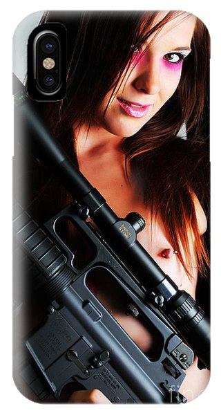 Pink Sniper IPhone Case