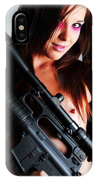 Pink Sniper IPhone Case