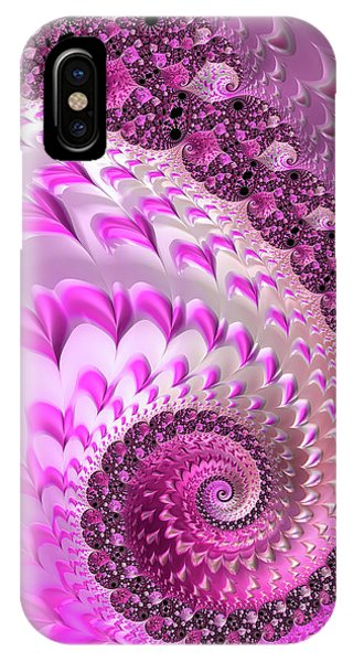 Pink Spiral With Lovely Hearts IPhone Case